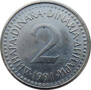 2 dinars – revers