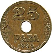 25 para (Royaume de Yougoslavie) – revers