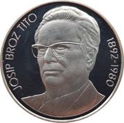 1000 dinars (Mort de Tito) – revers