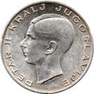 20 dinars (Royaume de Yougoslavie) – avers