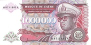 1 000 000 Zaïres – avers