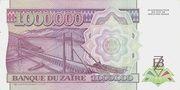 1 000 000 Zaïres – revers