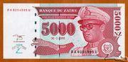 5 000 Nouveaux Zaïres -  avers