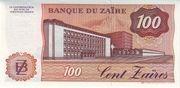 100 Zaïres – revers