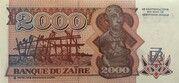 2 000 Zaires – revers