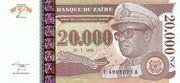 20 000 Nouveaux Zaïres – avers