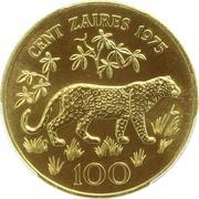 100 zaïres (WWF) – revers