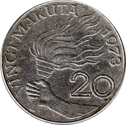 20 makuta -  revers