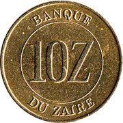 10 zaïres -  revers