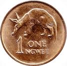 1 ngwee (acier plaqué cuivre) – revers