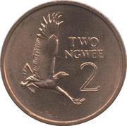 2 ngwee (acier plaqué cuivre) – revers