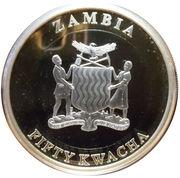 50 Kwacha (50ème anniversaire de la Banque de Zambie) – avers