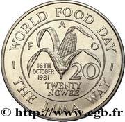 20 ngwee FAO – revers