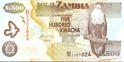 500 Kwacha – avers