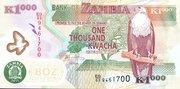 1000 Kwacha – avers