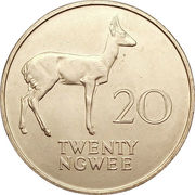 20 ngwee – revers