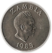 20 ngwee Banque de Zambie – avers