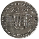 20 ngwee Banque de Zambie – revers