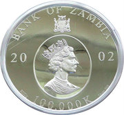 100 000 kwacha - Elizabeth II (Reine mère) – avers