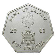 4000 Kwacha - Elizabeth II (2002 Calendar) -  avers