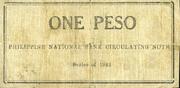1 Peso (Zamboanga) – revers