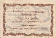 20 Heller (Zeiselmauer) – revers