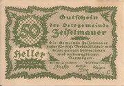 20 Heller (Zeiselmauer) – avers