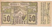 50 Heller (Zell an der Ybbs) -  avers