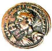 Dirham of Sinjar- Kutb al din Muhammad bin Zangi – avers