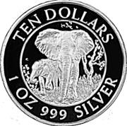 10 dollars (Barrage de Kariba) – revers