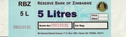 5 Litres - Fuel Coupon – avers