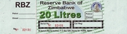 20 Litres - Fuel Coupon – avers