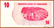 10 Dollars (Bearer Cheque) – revers