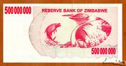 500 000 000 Dollars (Bearer Cheque) – revers