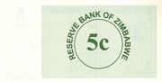 5 Cents (Bearer Cheque) – revers