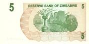 5 Dollars (Bearer Cheque) – revers