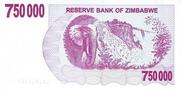 750 000 Dollars (Bearer Cheque) – revers