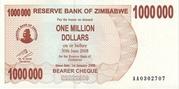 1 000 000 Dollars (Bearer Cheque) – avers