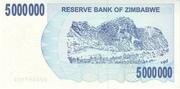 5 000 000 Dollars (Bearer Cheque) – revers