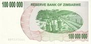 100 000 000 Dollars (Bearer Cheque) – revers