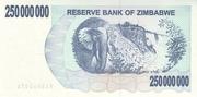 250 000 000 Dollars (Bearer Cheque) – revers