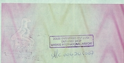 5,000 Dollars - Travellers Cheque – revers