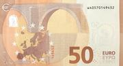 50 euros (série Europa) – revers