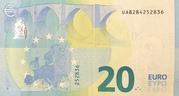 20 euros (série Europa) – revers