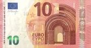 10 euros (série Europa) – avers