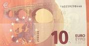 10 euros (série Europa) – revers