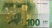 100 euros (série Europa) – revers