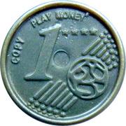1 Euro Cent – Play Money – revers
