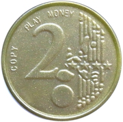 2 Euro (Play Money) – revers