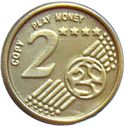 2 Euro Cent – Play Money – avers